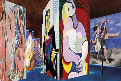 exposition Picasso aux carrières de lumières